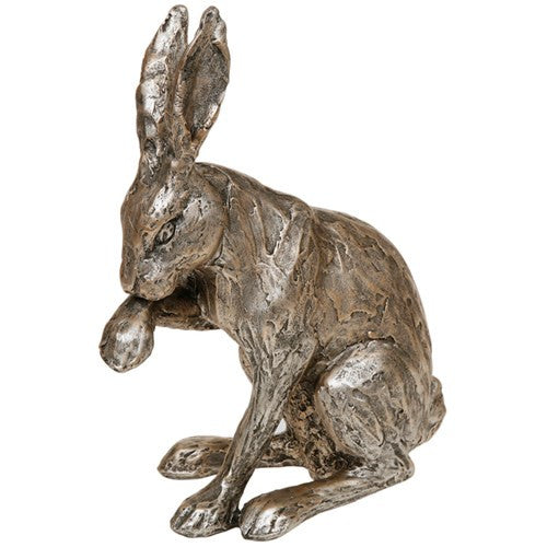 Champagne bronze sitting hare