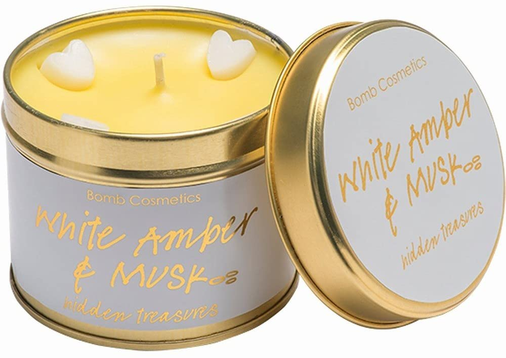 White Amber and Musk Scented candle