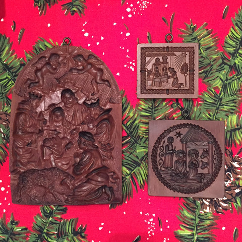 Springerle Nativity Scenes ~ Compare Sizes of House on the Hill Cookie Molds for Christmas