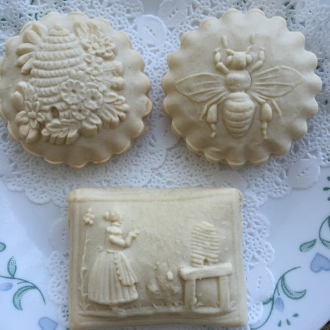 Bee Skep Springerle Cookies from mold