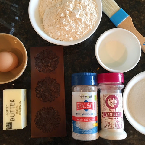 Ingredients for a quick springerle cookie recipe super easy