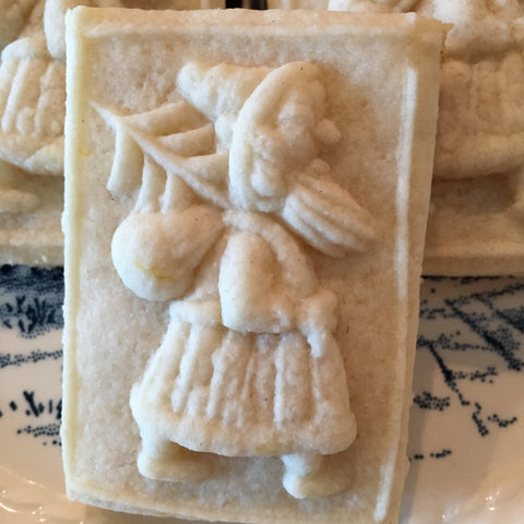 Small santa springerle butter cream cheese cookie recipe