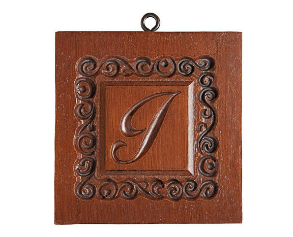 """Monogram A-Z Letters"" ~ Springerle Cookie Molds"