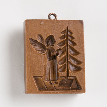 angel and tree springerle cookie mold house on the hill M5710