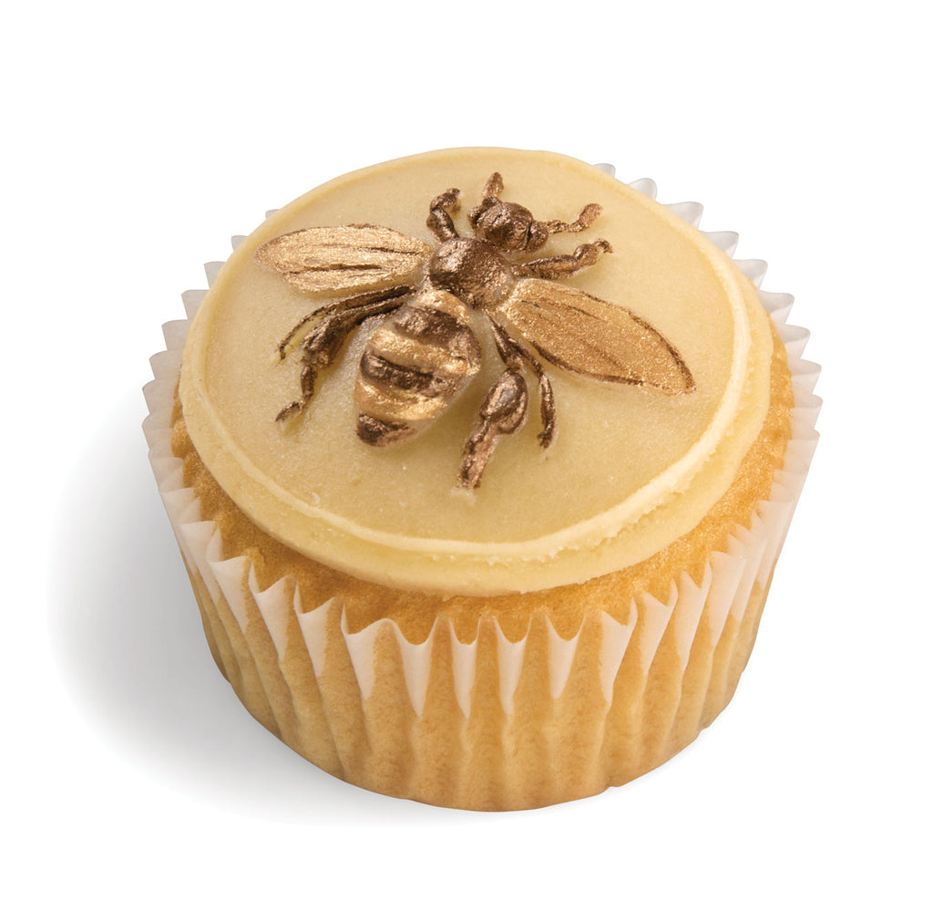 """Bee Happy"" ~ Springerle Cookie Mold and Cupcake Topper"