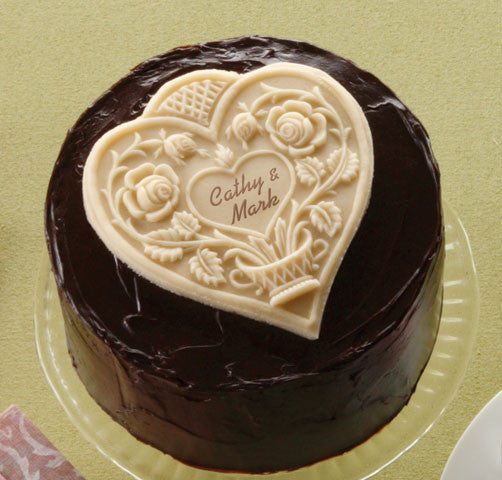 """Quilted Heart"" ~ Springerle Cookie Mold"