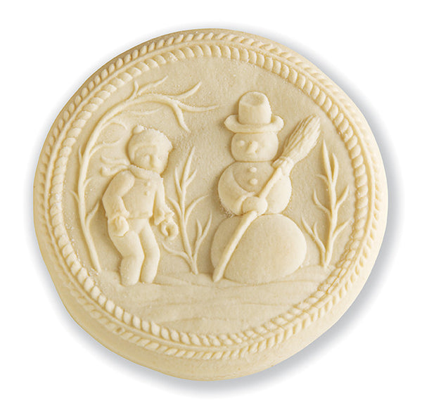 """Snowman"" ~ Springerle Cookie Mold"
