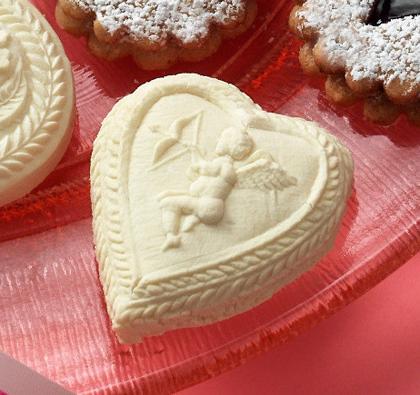 """Cupid in a Heart"" ~ Springerle Cookie Mold"