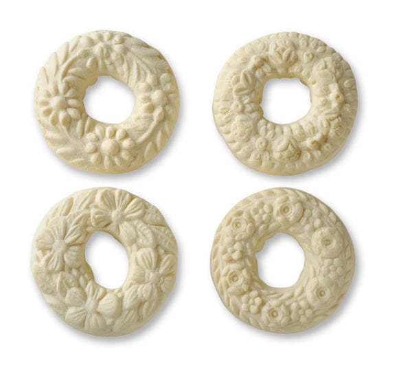 """Four Wreaths"" ~ Springerle Cookie Mold"