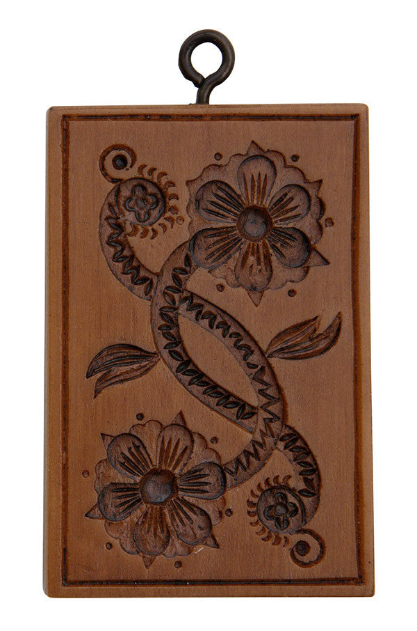 """Floral Scroll"" ~ Springerle Cookie Mold"