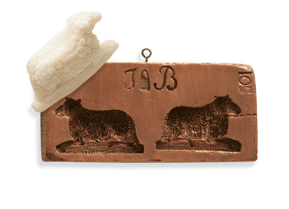 """Double Lamb"" ~ Springerle Cookie Mold"