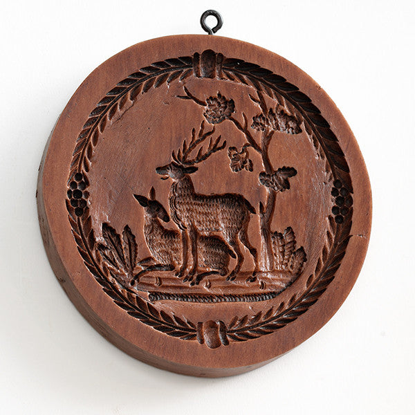"""Stag and Doe"" ~ Springerle Cookie Mold"