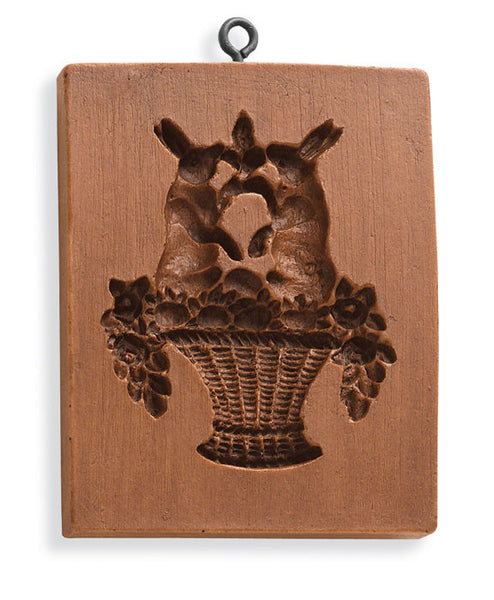 """Bunnies in a Basket"" ~ Springerle Cookie Mold"