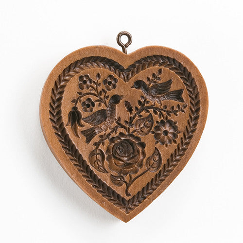 """Heart and Rose"" ~ Springerle Cookie Mold"
