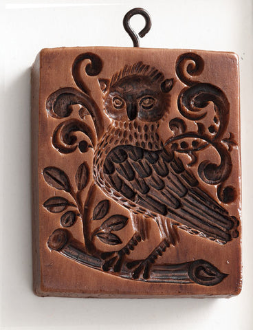 """Baroque Owl"" ~ Springerle Cookie Mold"