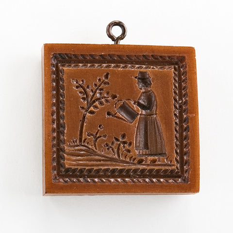 """Woman Gardener"" ~ Springerle Cookie Mold"