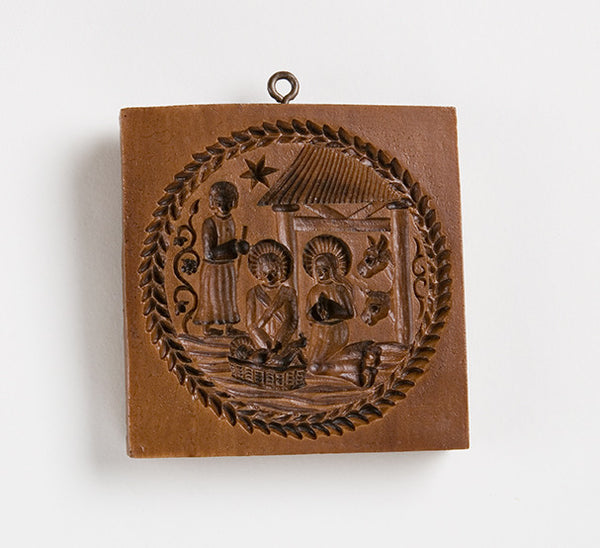 """Nativity Scene"" ~ Springerle Cookie Mold"
