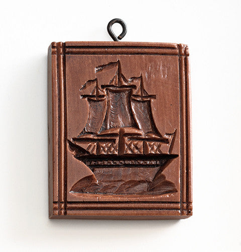 """Three Masted Ship"" ~ Springerle Cookie Mold"