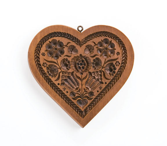 """Pomegranate Heart"" ~ Springerle Cookie Mold"