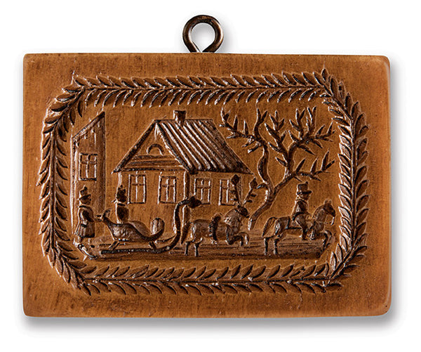 """Winter Sleigh Scene"" ~ Springerle Cookie Mold"