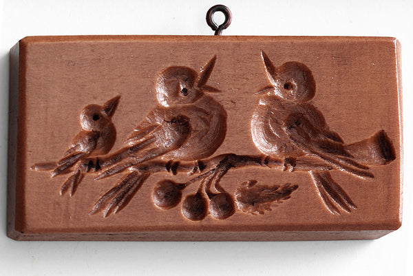 """Robin Family"" ~ Springerle Cookie Mold"