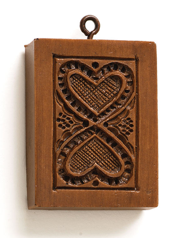 """Hearts United"" ~ Springerle Cookie Mold"
