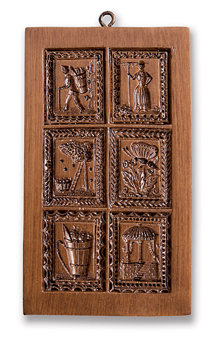 """Six Garden Motifs"" ~ Springerle Cookie Press"