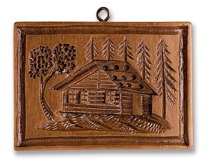 """Pinewood Cabin"" ~ Springerle Cookie Mold"