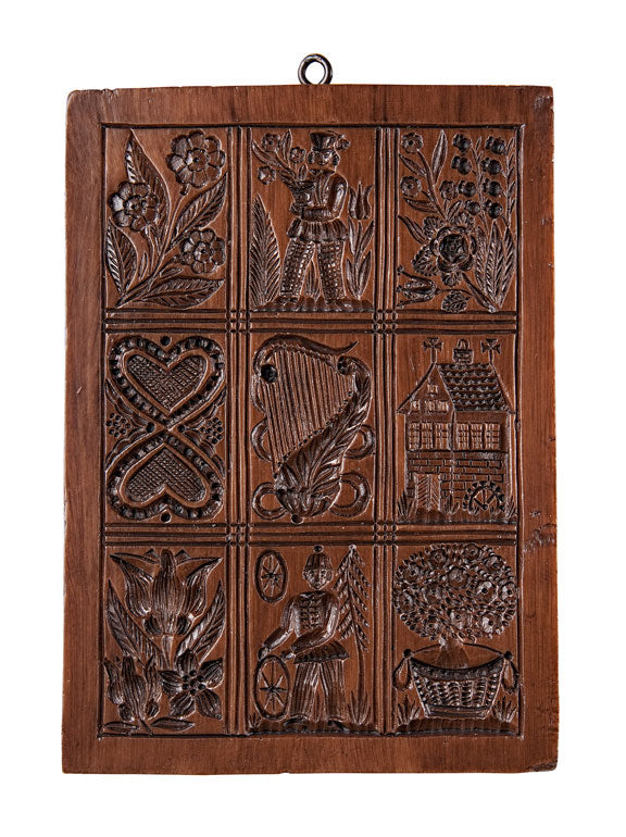 """Folk Art Plaque"" ~ Springerle Cookie Board"
