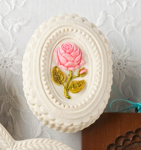 """Oval Rose"" ~ Springerle Cookie Mold"