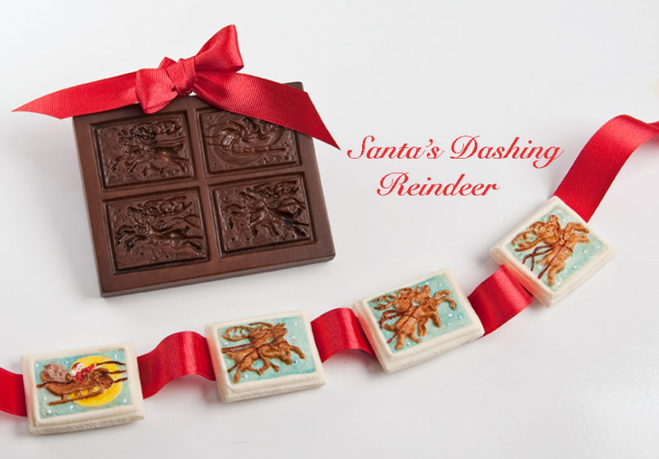 """Santa's Dashing Reindeer"" ~ Springerle Cookie Mold"