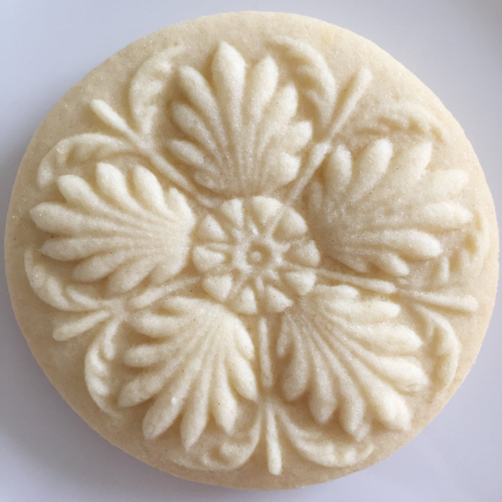 3 Rosettes Springerle Cookie Board