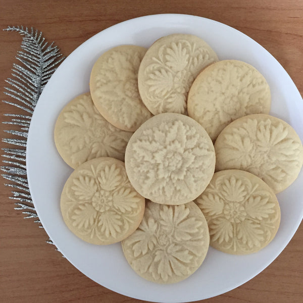 """3 Rosettes"" ~ Springerle Cookie Board"