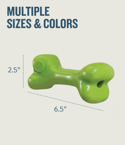 Bone is made from the award-winning Orbee-Tuff material, which is 100% recyclable and non-toxic. Toy is durable, bouncy, buoyant, and perfect for chewing, chasing, and fetching. Bone is infused with natural mint oil.