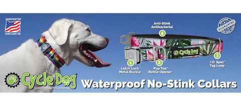 Waterproof No-Stink Collar Features
