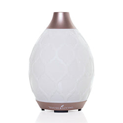 The Desert Mist diffuser functions as a humidifier, atomizer, and aroma diffuser all in one simple-to-use product. The diffuser offers multiple settings of high, low, and intermittent modes. It has 10-LED colored light options, including an alluring candle-like flicker mode.