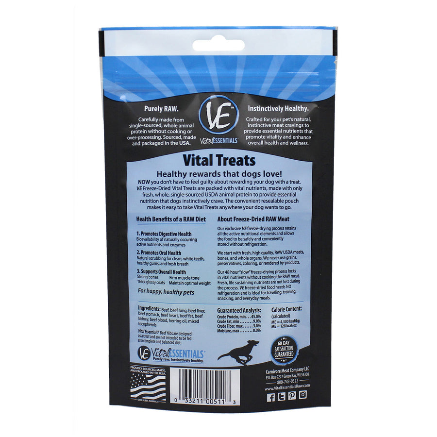 Vital Essentials Freeze-dried Beef Nibs