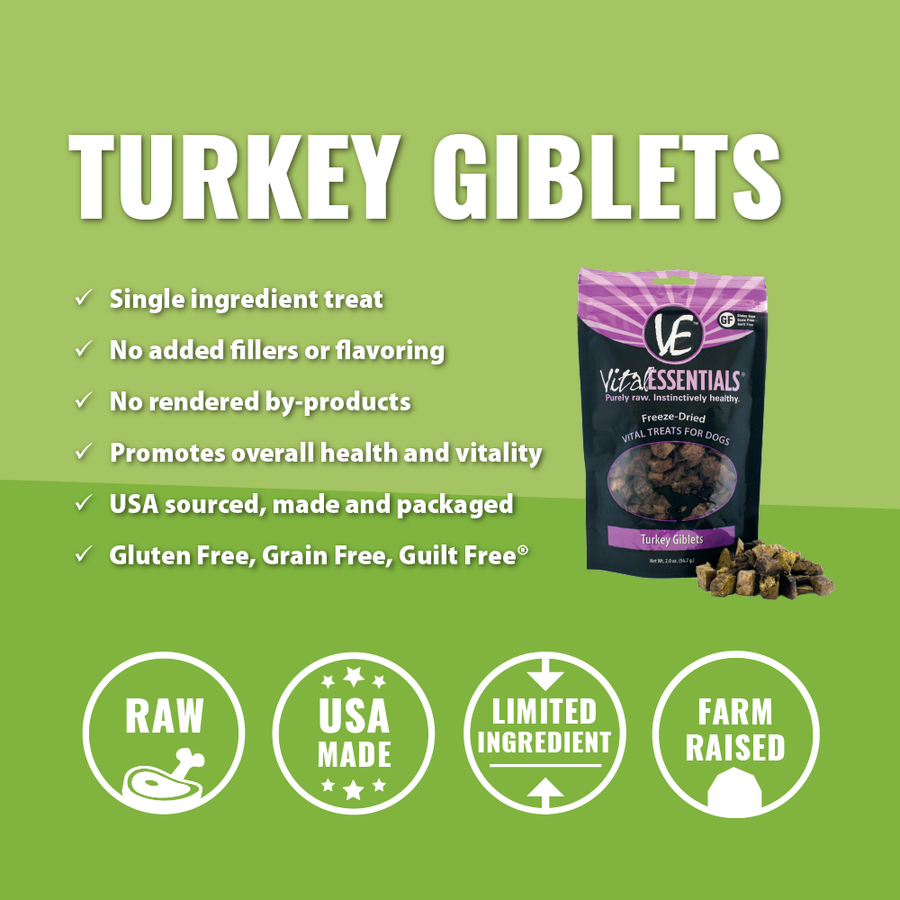 Vital Essentials Freeze-dried Turkey Giblets