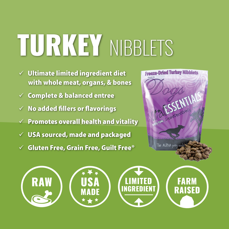 Vital Essentials Freeze-dried Turkey Nibblets