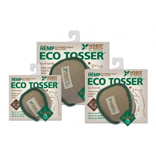 The Eco Tosser is made from natural hemp and stuffed with organic wool.