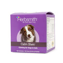 Herbsmith Calm Shen™ is a calming blend of herbs for dogs and cats exhibiting signs of nervousness, hyperactivity, or discontentment due to environmentally induced stress. It helps maintain a normal and relaxed disposition during times of external stress, and reduces hyperactivity by promoting a sense of relaxation.