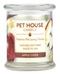 Pet House candles are hand-poured, and made from 100% natural, dye-free soy wax. Comes in an 8.5 oz. glass jar. Fragrance profile is a refreshing and spicy blend of fresh apple juice mixed with cinnamon and cloves.