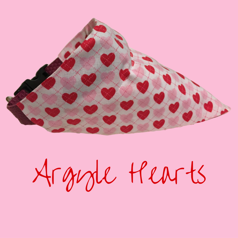 Argyle Hearts-Dog Bandana - Dogs Dig It