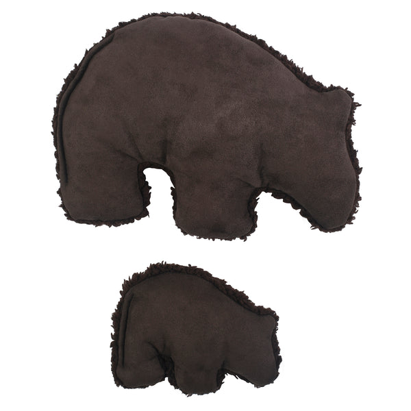 Big Sky Grizzly is sure to delight any dog with its attention-grabbing squeaker and eye-catching colors. Toy is made from faux suede, plush fleece fabric, and stuffed with 100% eco-friendly IntelliLoft fill that is made from recycled plastic bottles.