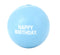 Happy Birthday ball is made from the award-winning Orbee-Tuff material, which is 100% recyclable and non-toxic. Ball is durable, bouncy, buoyant, and perfect for tossing, fetching, and bouncing. Toy is infused with natural mint oil.