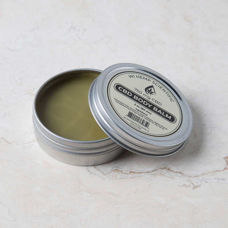 The 750 mg. Hemp Body Balm from Wisconsin Hemp Scientific is concentrated to provide fast acting relief for back, neck, knee or joint pain. The coconut oil base provides moisturizing benefits.