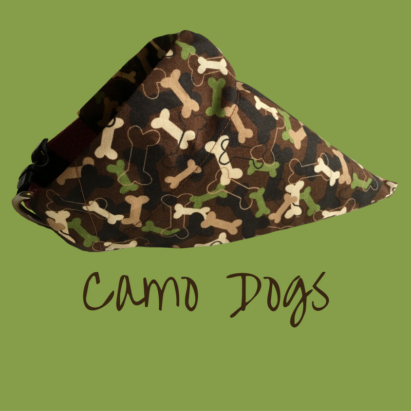 Camo Dogs-Dog Bandana - Dogs Dig It