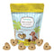 CocoTherapy Pure Hearts Coconut Cookies do not contain dairy, eggs, or grains, which make them perfect for dogs on a limited ingredient diet or those with allergies or sensitive tummies. The fat content in Pure Hearts Coconut Cookies comes from organic coconut oil.