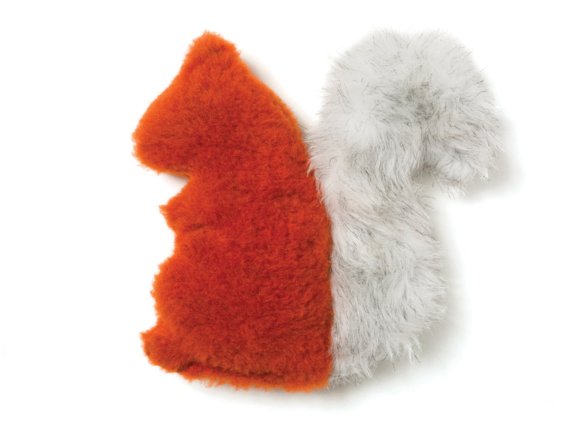 No more barking up the wrong tree! Sequoia Squirrel is sure to delight any dog with its irresistible fluffy tail, attention-grabbing squeaker and eye-catching colors.  Made of 100% eco-friendly IntelliLoft fabric and fill.
