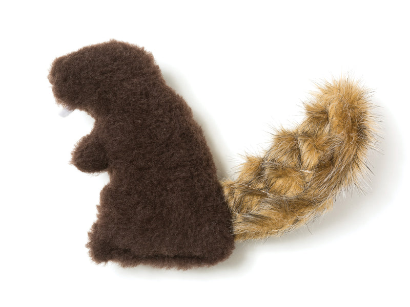 The Dam Beaver is sure to delight any dog with its irresistible fluffy tail, attention-grabbing squeaker and eye-catching colors.   Made of 100% eco-friendly IntelliLoft fabric and fill.